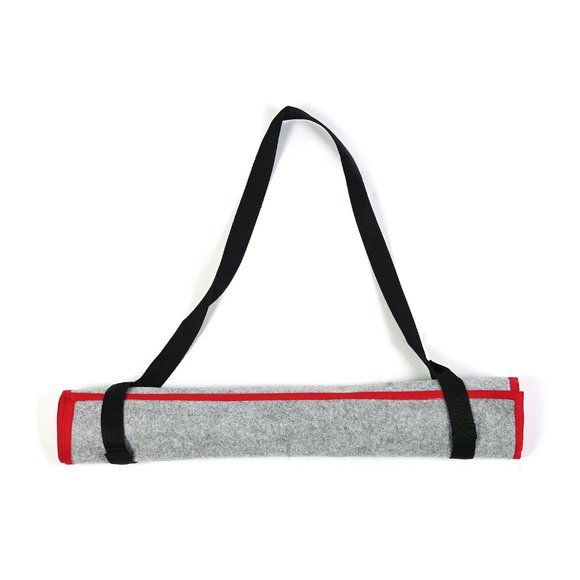 Red and Gray 100% Polyester Chakra Print Yoga Mat